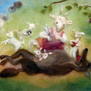 53. The Wolf and the 7 Little Goats